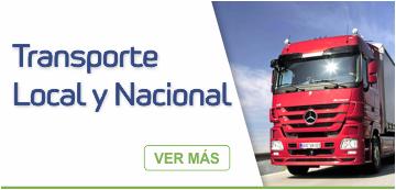 Transporte local y nacional - Operador Logístico