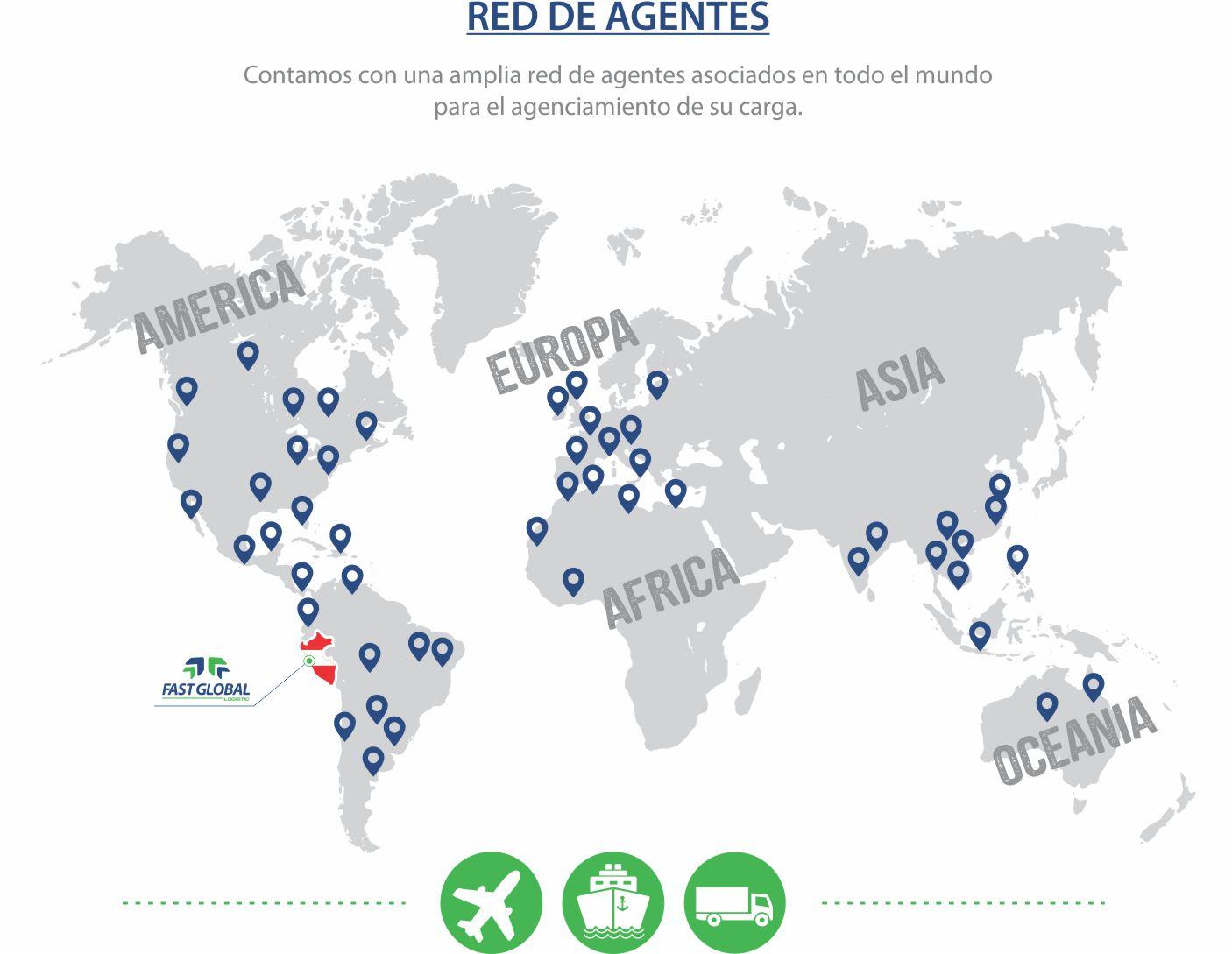 red de agentes mundial